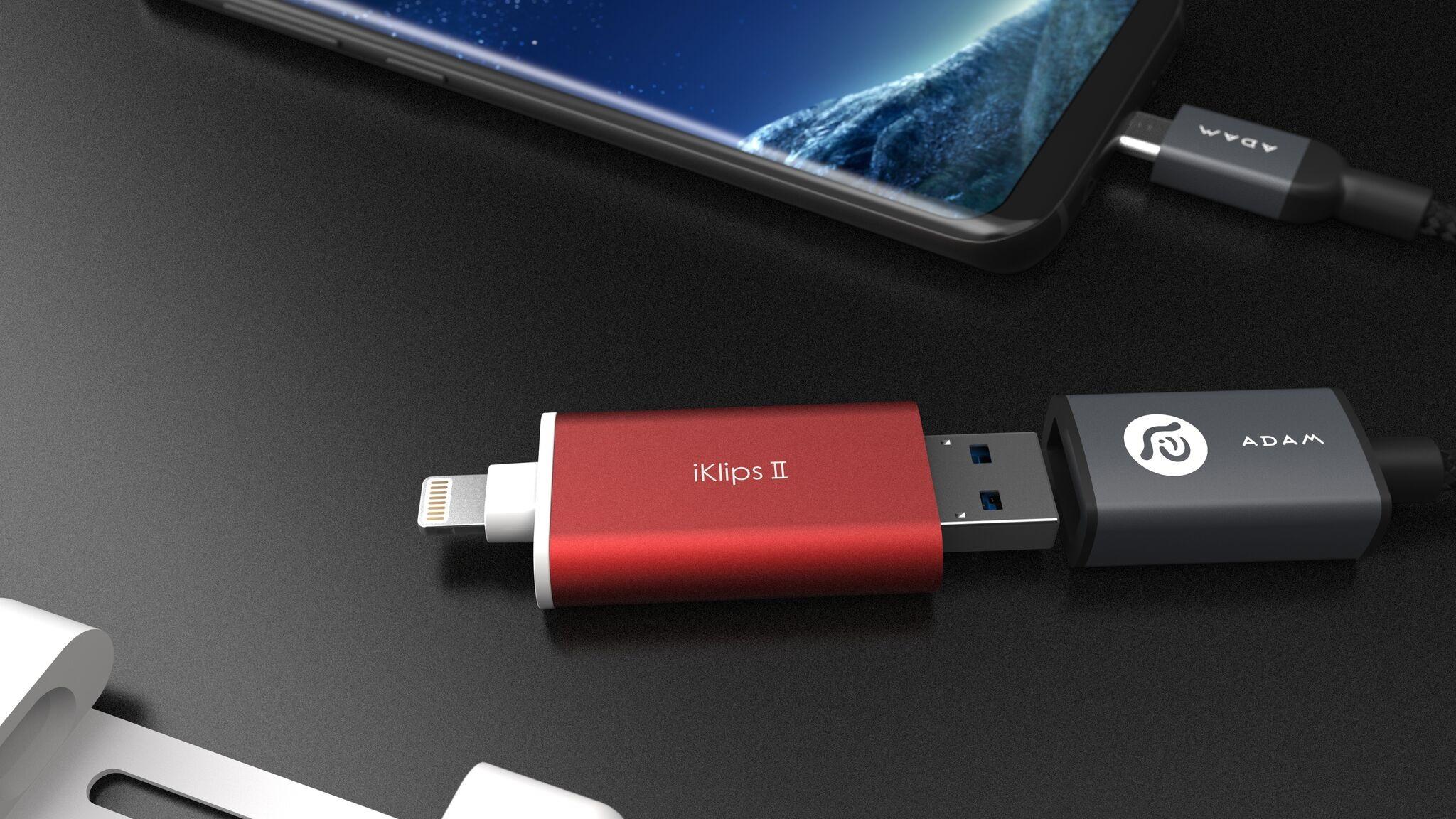 Adam Elements Iklips Ii Flash Disk S Lightningem 128gb Erven Element Drive Red Iklipsii 04 Preview