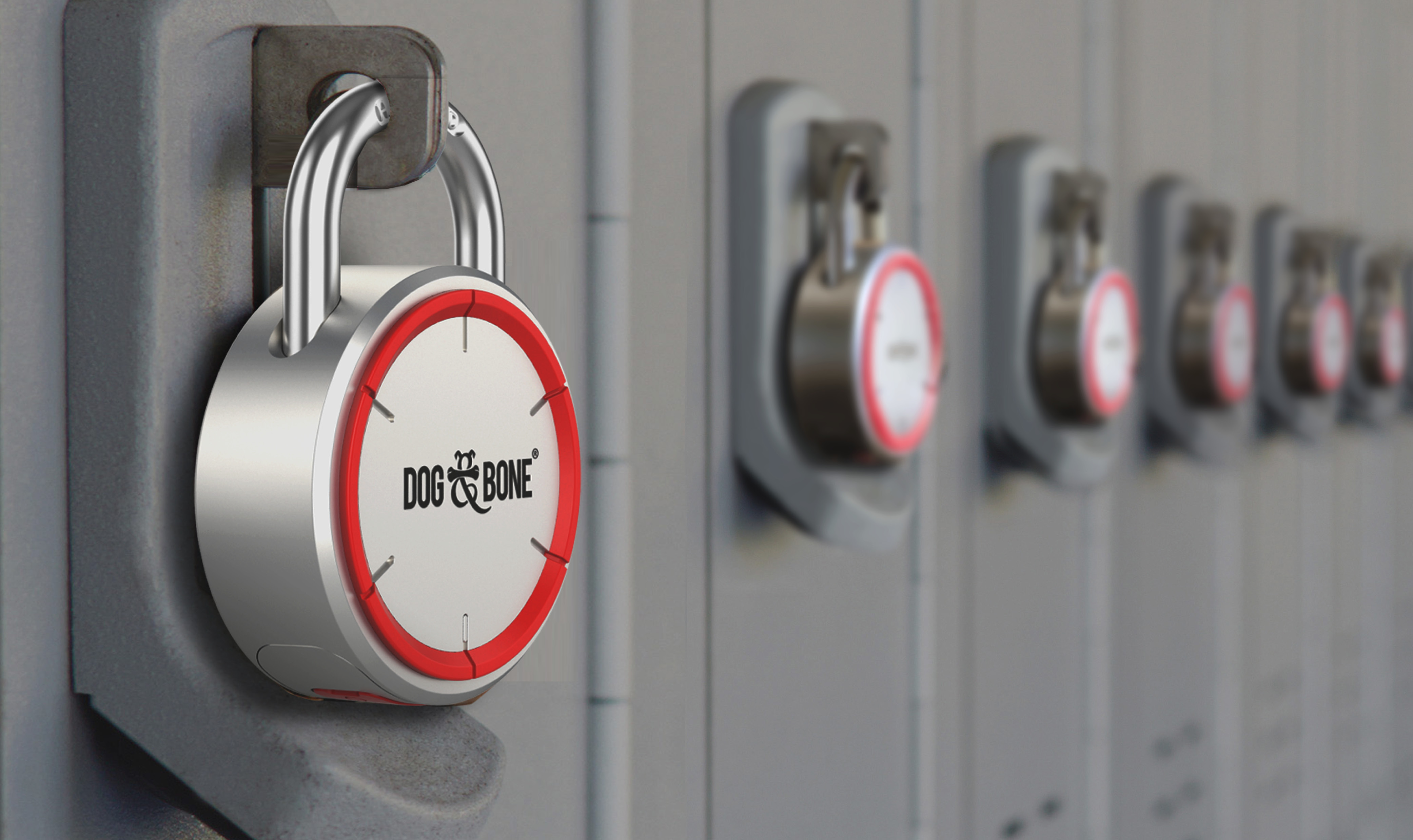 LockSmart padlock lockers close